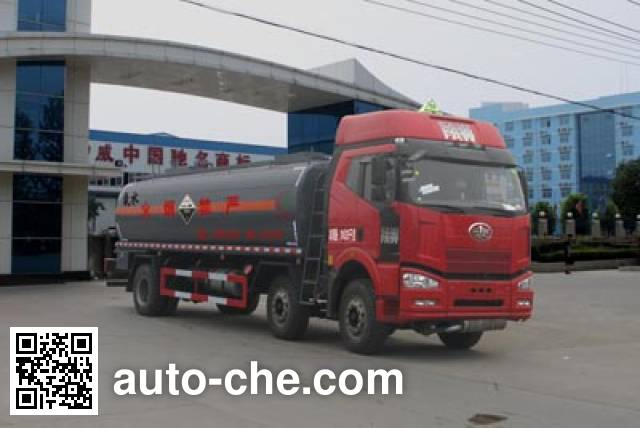 Chengliwei CLW5251GFWC4 corrosive substance transport tank truck