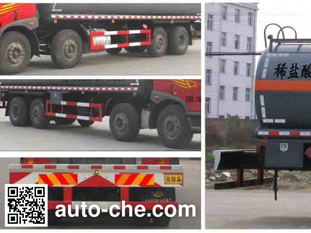 Chengliwei CLW5313GFWC4 corrosive substance transport tank truck