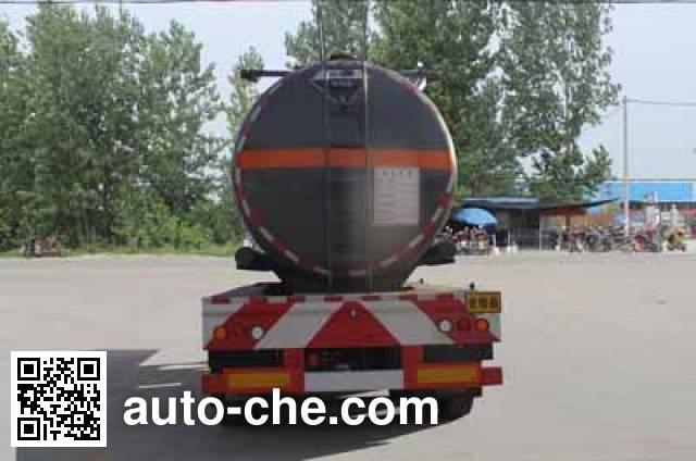 程力威牌CLW9402GFWC腐蚀性物品罐式运输半挂车