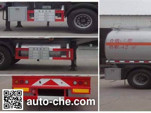 Chengliwei CLW9409GRYA flammable liquid tank trailer