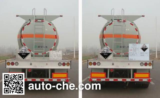 CIMC Lingyu CLY9400GFW corrosive materials transport tank trailer