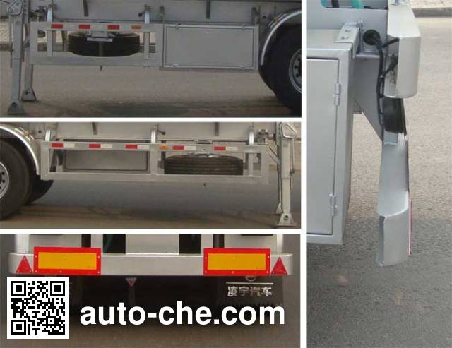 CIMC Lingyu CLY9407GRY flammable liquid aluminum tank trailer