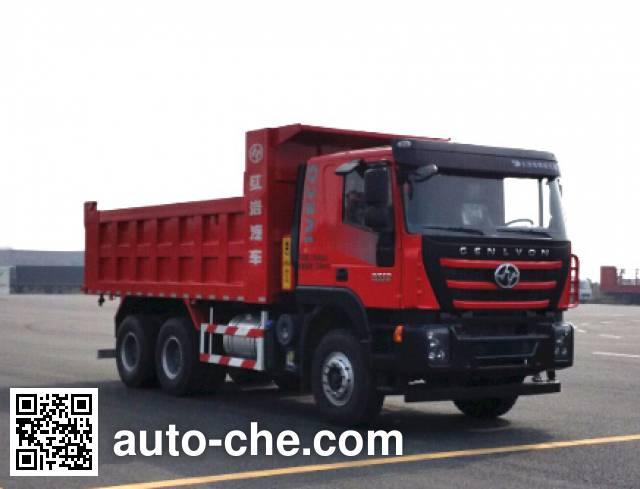 SAIC Hongyan CQ3256HMDG384L dump truck