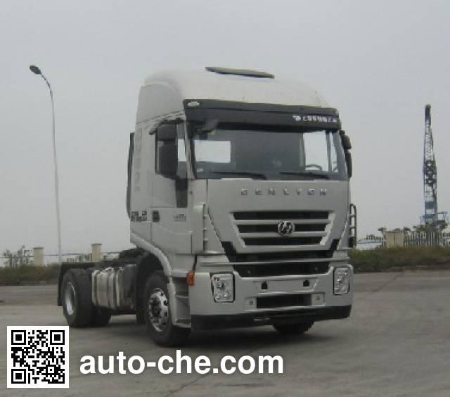 SAIC Hongyan CQ4185HMVG361C container carrier vehicle