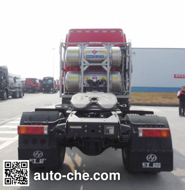 SAIC Hongyan CQ4186HMG381TAC container carrier vehicle