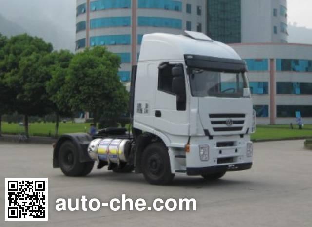 SAIC Hongyan CQ4186HMG381TC container carrier vehicle