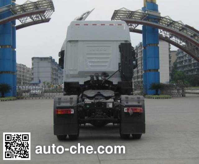 SAIC Hongyan CQ4186HTG381TC container carrier vehicle