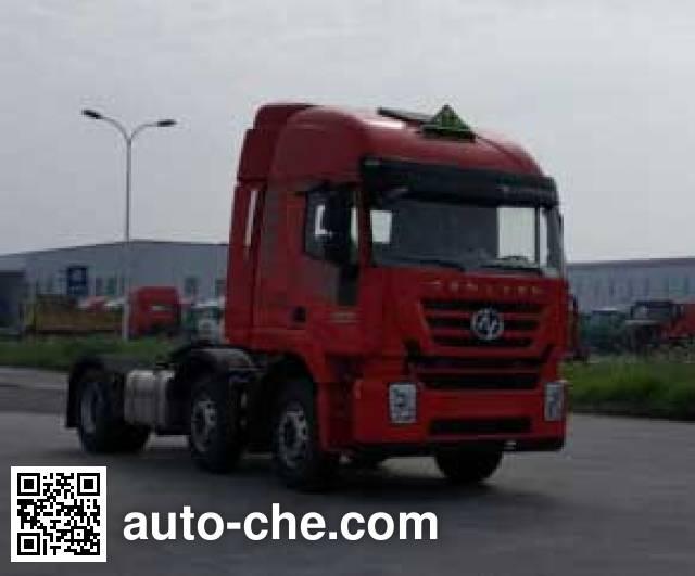 SAIC Hongyan CQ4256HMVG273U dangerous goods transport tractor unit