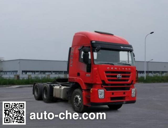 SAIC Hongyan CQ4256HTDG334C container carrier vehicle