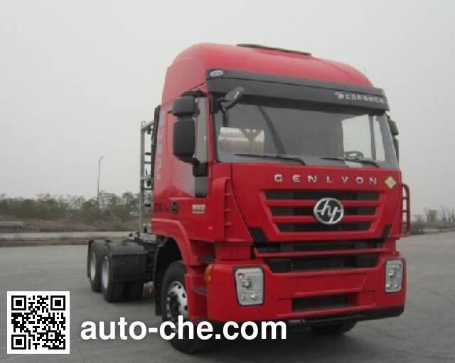 SAIC Hongyan CQ4256HTG384TBC container carrier vehicle