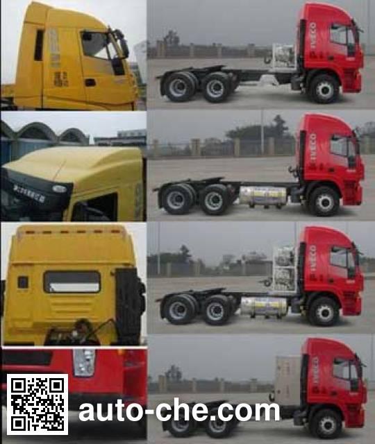 SAIC Hongyan CQ4256HTG384TC container carrier vehicle