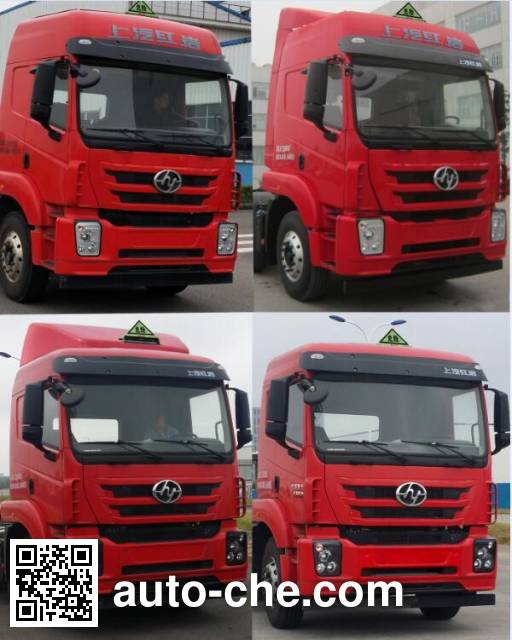 SAIC Hongyan CQ4256ZMVG334U dangerous goods transport tractor unit