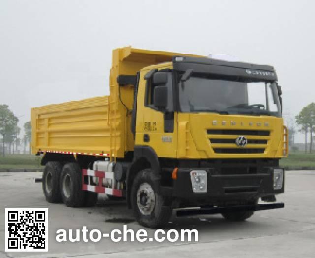 SAIC Hongyan CQ5255ZLJHTDG384BS dump garbage truck