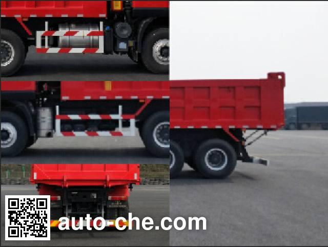 SAIC Hongyan CQ5256ZLJHMDG384L dump garbage truck