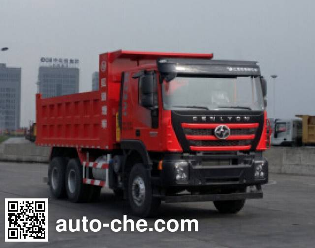 SAIC Hongyan CQ5256ZLJHMVG384S dump garbage truck