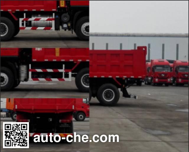 SAIC Hongyan CQ5256ZLJHTDG384L dump garbage truck