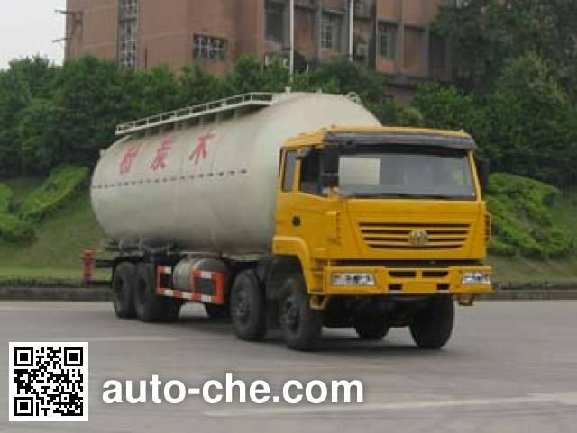 红岩牌CQ5314GFLSMG466E粉粒物料运输车