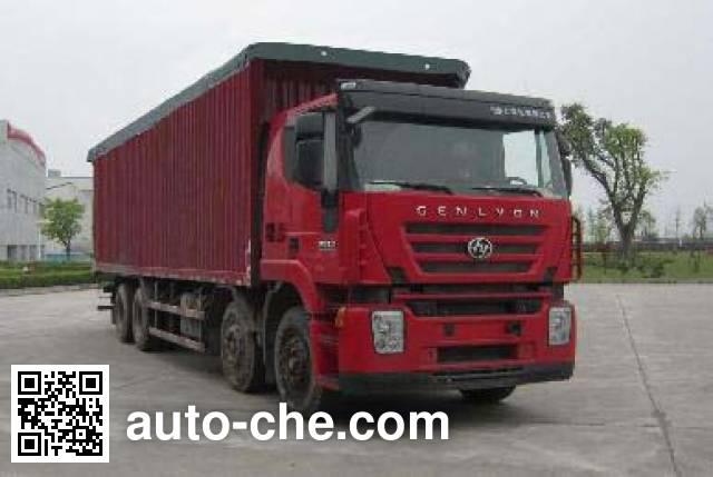 SAIC Hongyan CQ5314XXYHTG466VP автофургон с тентованным верхом