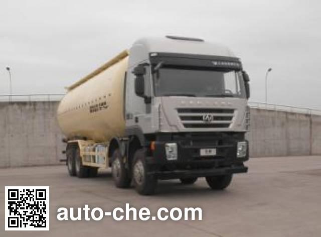 红岩牌CQ5315GFLHTG466低密度粉粒物料运输车