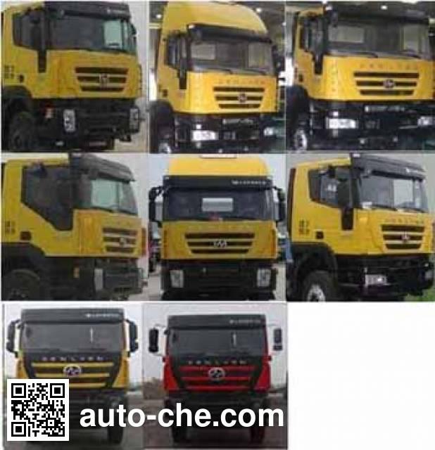 SAIC Hongyan CQ5316GFLHTG466TB low-density bulk powder transport tank truck