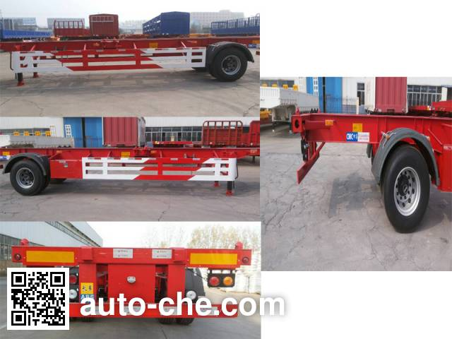 CIMC Liangshan Dongyue CSQ9150TJZG empty container transport trailer