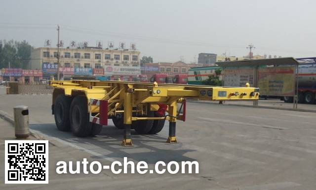 CIMC Liangshan Dongyue CSQ9350TWY dangerous goods tank container skeletal trailer