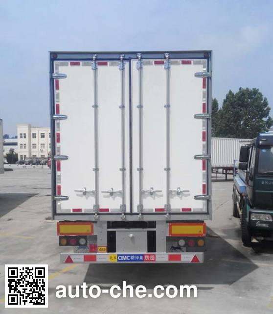 CIMC Liangshan Dongyue CSQ9350XXY box body van trailer