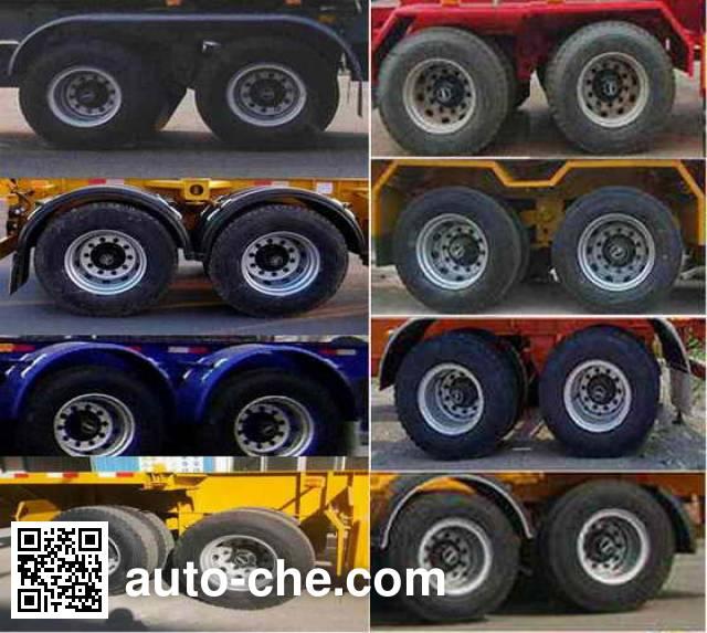CIMC Liangshan Dongyue CSQ9350TJZG container transport trailer