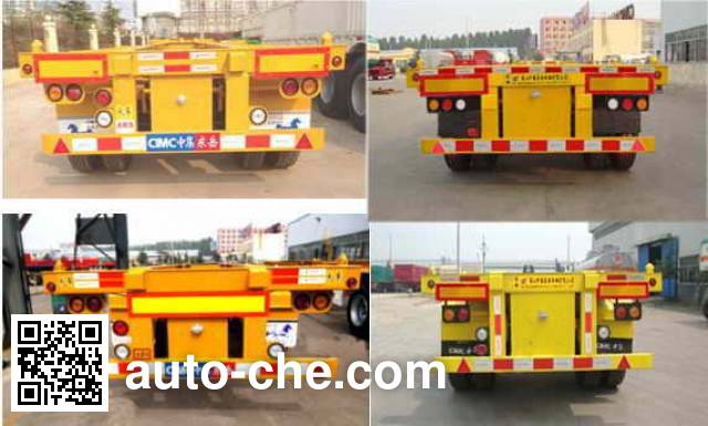CIMC Liangshan Dongyue CSQ9351TJZG container transport trailer