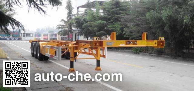CIMC Liangshan Dongyue CSQ9354TJZG container transport trailer