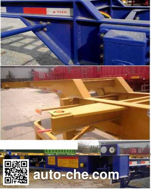 CIMC Liangshan Dongyue CSQ9401TJZG container transport trailer
