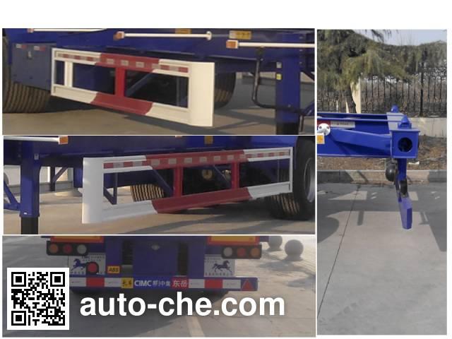 CIMC Liangshan Dongyue CSQ9407TJZ container transport trailer