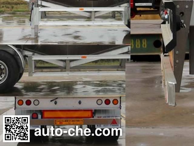 通亚达牌CTY9400GFLTL40铝合金中密度粉粒物料运输半挂车