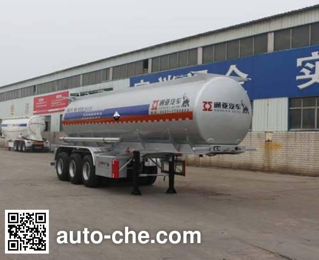 通亚达牌CTY9402GFWA腐蚀性物品罐式运输半挂车