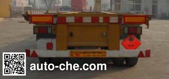 Tongya CTY9402TWY20 dangerous goods tank container skeletal trailer