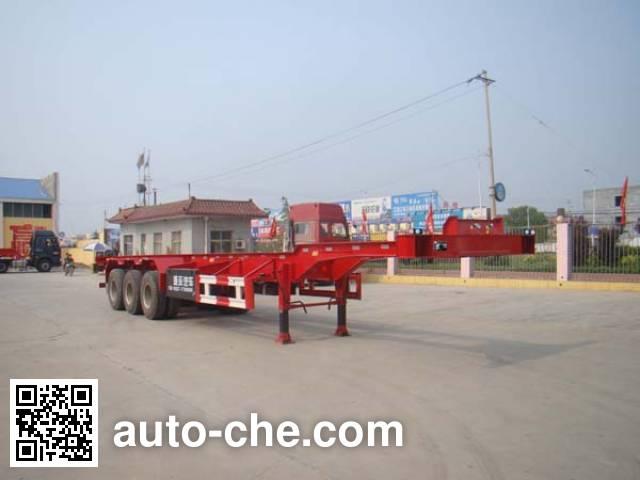祖国统一牌CTY9401TJZGF集装箱运输半挂车