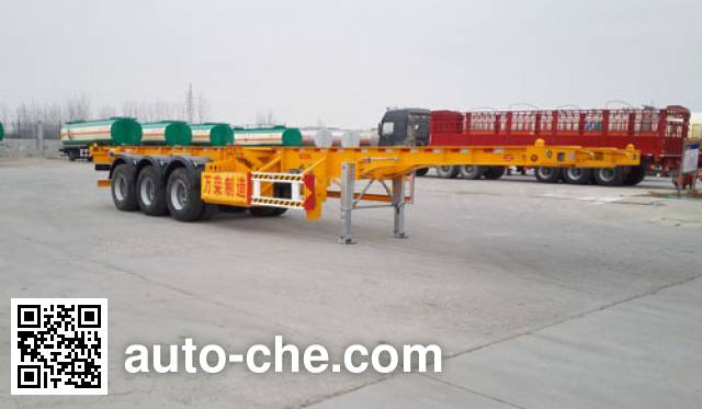 Wanrong CWR9400TWY dangerous goods tank container skeletal trailer