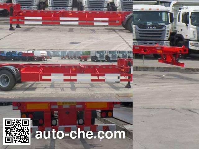 JAC Yangtian CXQ9180TJZ empty container transport trailer