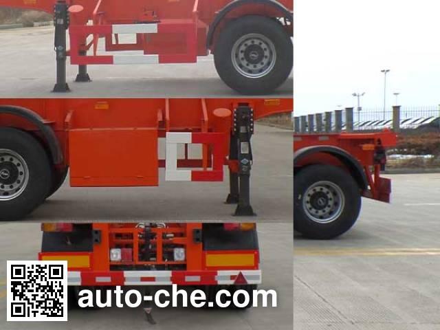 JAC Yangtian CXQ9400TWY dangerous goods tank container skeletal trailer