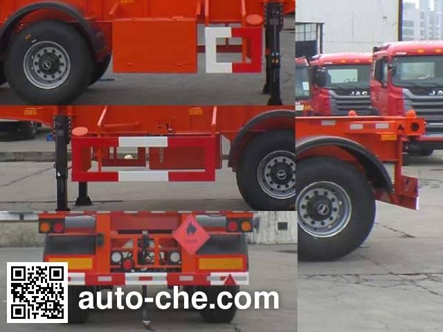 JAC Yangtian CXQ9401TWY dangerous goods tank container skeletal trailer