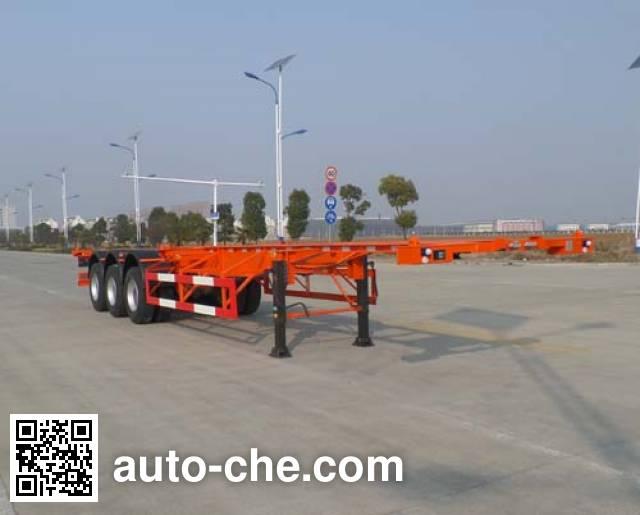 JAC Yangtian CXQ9402TWY dangerous goods tank container skeletal trailer