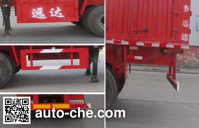 Yongkang CXY9381XXY box body van trailer
