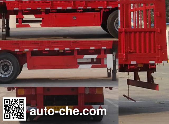 华威翔运牌CYX9400CCYE仓栅式运输半挂车