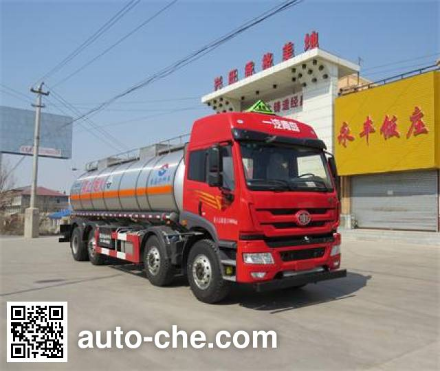 Huanghai DD5310GFW corrosive substance transport tank truck