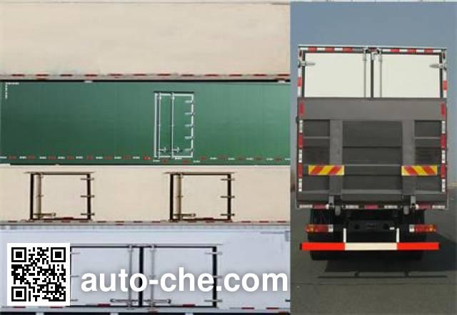 Huanghai DD5310XBW insulated box van truck