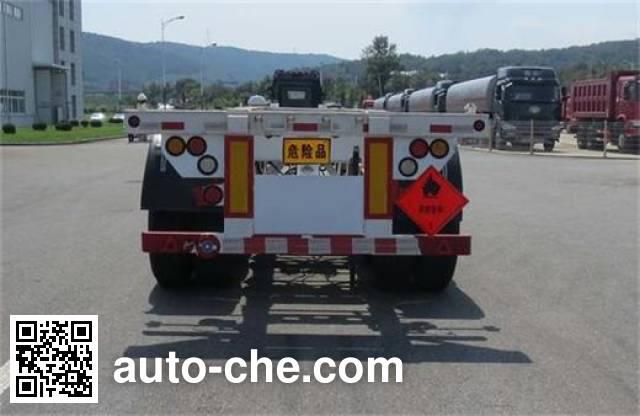 Huanghai DD9400TWY dangerous goods tank container skeletal trailer