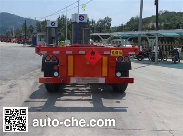 Huanghai DD9401TWY dangerous goods tank container skeletal trailer