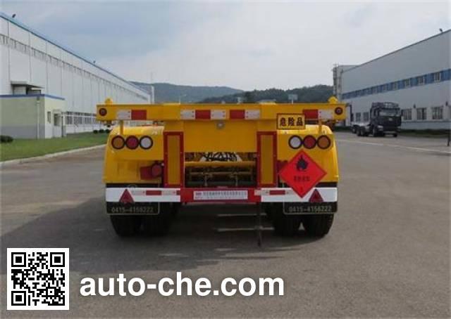 Huanghai DD9402TWY dangerous goods tank container skeletal trailer