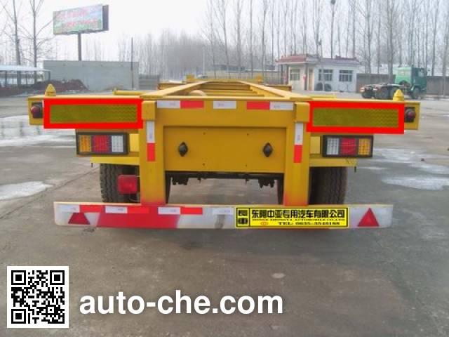 Qilu Zhongya DEZ9150TJZK empty container transport trailer
