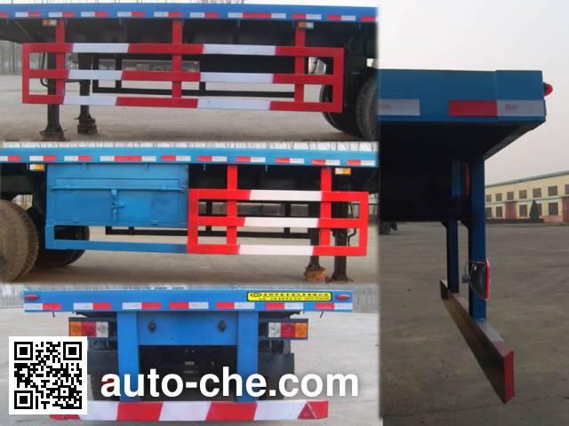 Qilu Zhongya DEZ9400TPB flatbed trailer